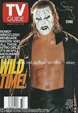 STING STEVE BORDEN AUGUST 1999 WCW WRESTLING MIDSUMMER MELEE PHOTO TV GUIDE