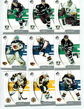 2005-06 SP AUTHENTIC NHL 100-CARD BASE SET LOADED W/STARS