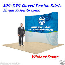 "10"" Curved Fabric Tension Backwall Pop Up Display Trade Show Single Graphic Only"