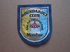 Roundabout Club Save The Children Fund Member Woven Cloth Patch Badge