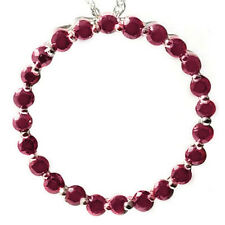 1.15 CTW GENUINE RUBY PLATINUM OVER 925 STERLING SILVER CIRCLE PENDANT