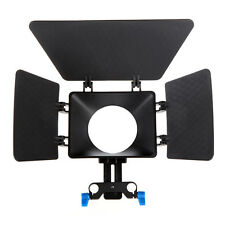 Plastic Matte Box Sunshade for 15mm Rod Support  Rig DSLR Cameras and Camcorders
