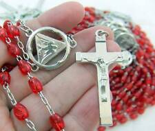 MRT Rosary BULK Wholesale Lot of 10 for Sellers Red Bead Holy Spirit Gift 18""
