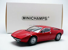 Minichamps 1974 Maserati Merak Red Color in 1/18 Scale New Release! In Stock!