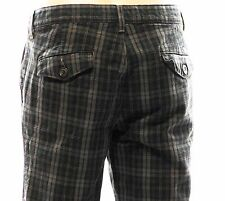 Seven 7 For All Mankind Mens Hipster Gray Plaid Pants Button Flap Pockets Sz 32