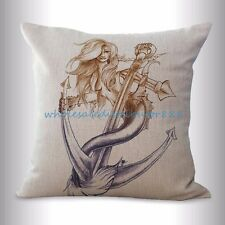 US SELLER- cheap decorative cushions mermaid cushion cover