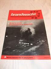 Zeitung Zeitschrift Brandwacht Feuerschutz Feuerwehr Werbung Technik Sep. 1988