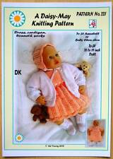 "Dolls knitting pattern for  Annabell  No 221 by Daisy-May 17""-19"" doll DK yarn"