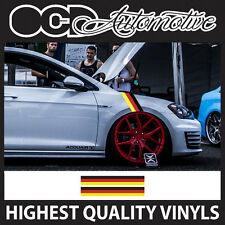 GERMAN DUB WING STRIPE GRAPHICS DECALS STICKER KIT RACE AUDI VW BMW PORSCHE SEAT