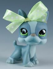Littlest Pet Shop Boston Terrier #857 Gray With Green Eyes