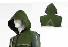 Green Arrow Oliver Queen Cosplay Costume Outfit Halloween Green Hood (no zipper)
