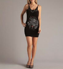 Ed Hardy Ladies Attractive Rhinestone and Chain Dress Size S