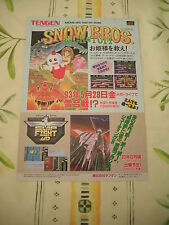 SNOW BROS SLAP FIGHT 007 MEGADRIVE ORIGINAL JAPAN HANDBILL FLYER CHIRASHI!