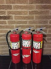 FIRE EXTINGUISHER 10LBS 10# ABC NEW CERT TAG LOT OF 3 (SCRATCH/DIRTY)
