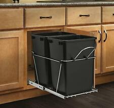 Pull Out Trash Garbage Can Waste Container Kitchen Cabinet Organizer 35 Quart
