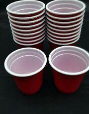 20 X Rojo Vasos de Chupito 60 Ml Plástico Desechable
