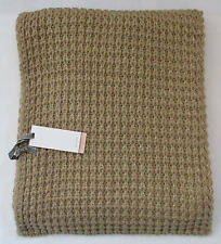 JOHN LEWIS Chunky Knit Camel Beige Gold Shimmer Scarf 30 x 200cm  RRP £30