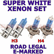 Volkswagen Sharan 1996-1999 Set H4 H3 Xenon Super White Light Bulbs
