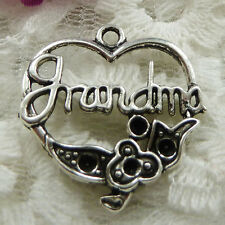 Free Ship 120 pieces Antique silver heart charms 24x24mm #451