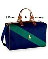 Ralph Lauren the World of Polo Traveler bag, duffle gym bag blue navy/green NWT