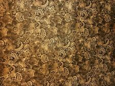 "108"" Quilt Backing Batik Tonal Chocolate Paisley! By the yard/100 % Cotton"