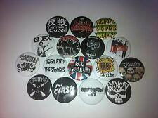 16 Punk badges nofx crass ramones sublime stooges rancid buzzcocks cramps op ivy