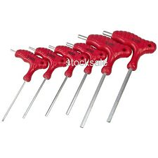 6pc T-Handle Hex Key Set 2 2.5 3 4 5 6mm Allen Key Wrench Double Ended CR-V