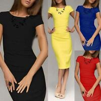 Women's Casual Dress Bodycon Party Cocktail OL Work Business Slim Pencil Dress