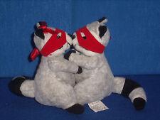 """Hallmark Bandit Kiss Kiss Raccoon Plush Stuffed Mini 4"""" tall Magnetic 5"""