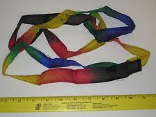 "Thumb Tip Rainbow Silk Streamer Magic Trick 1"" x 6 ft. Stage, Clowns, Production"
