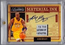 2009-10 Timeless Treasures Kobe Bryant Material Ink Laundry Tag Patch Auto (1/1)