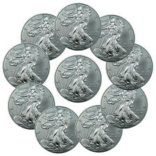 Lot of 10 2016 Oz .999 Fine American Silver Eagle Coins SKU38286