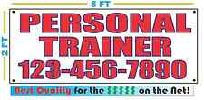 PERSONAL TRAINER w CUSTOM PHONE Banner Sign NEW Best Quality for the $