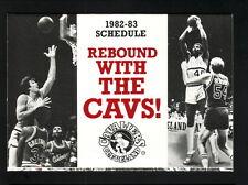 1982-83 Cleveland Cavaliers Schedule--Winston Lights--Scott Wedman/James Edwards