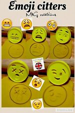 5pcs Plastic Emoji Biscuit Cookie Cutter Fondant Cake Decorating Mold 6 Cm
