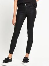 Lost Ink Coated Mid Rise Skinny Jeans Black Size 12 Box2701 C