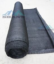 Shans 80% UV Resistant Fabric 6ftx50ft Black Shade Cloth With Clips Free