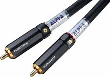 FURUTECH RCA interconnect cable(1.0m pair)ALPHA Line Plus Series from Japan