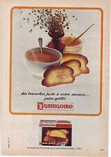 PUBLICITE ADVERTISING 034 1966 GRINGOIRE pain grillé