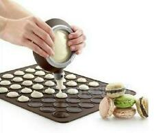 Macaron Macaroon Decorating Pen with Silicone Mat Sheet Tray Cake Baking Mold