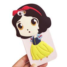 Disney Cartoon Cute Snow White Silicone Soft case for iPhone 6S 6SPlus 5 SE Case