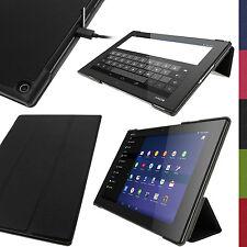 Schwarz PU Leder Hülle Tasche Cover Case für Sony Xperia Z2 10.1 SGP511 Tablet