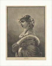 Englische Schönheit Mode Frauen Kleider original Holzstich SUPERPREIS X 2185