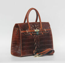 Luxurious New Women's Crocodile Embossed Handbag Real Leather Shoulder Bag