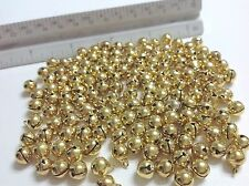 40 pieces Gold Metal Shinny Craft Christmas Jingle Bells Supplies 8mm