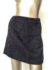 MIU MIU Gray Wool & Mohair Sexy Mini Skirt 40 or 4