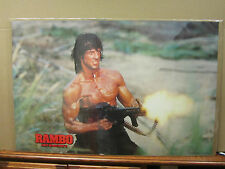 Vintage 1985 Movie poster Rambo first blood part II 2010