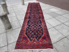 Old Traditional Hand Made Persian Oriental Wool Blue 17 F Long Runner 515x110cm