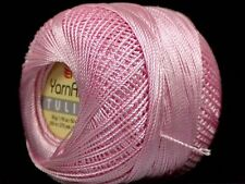Baby Pink YarnArt Tulip Size 10 Microfiber Thread 17317 50g 273y Crochet XStitch