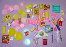 MATTEL VINTAGE BIG LOT OF BARBIE ACCESSORIES BARBIE KITCHEN DOLL HOUSE